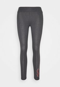 ONLY Play - ONPJOLIVIA LIFE - Tights - dark grey melange/white/coral