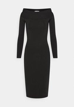 Victoria Beckham - COMPACT SHINE BARDOT FITTED DRESS - Sukienka etui - black