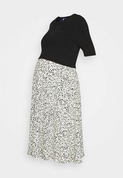 Seraphine - 2 IN 1 POLLYANNA DRESS WITH PRINTED SKIRT - Vestido informal - black/ecru