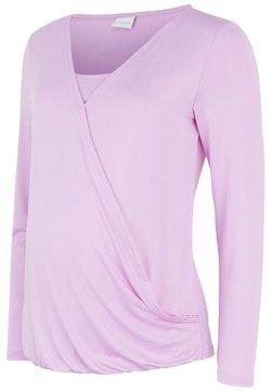 MAMALICIOUS - LONG SLEEVED - Camiseta de manga larga - violet tulle