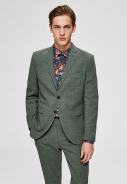 Selected Homme - SELECTED HOMME BLAZER SLIM FIT WOLLMISCHFASER - Marynarka - shadow