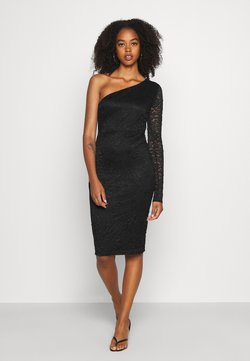 WAL G. - ONE SLEEVE DRESS - Cocktailkjoler / festkjoler - black