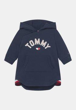Tommy Hilfiger - BABY HOODED DRESS - Vestido informal - blue
