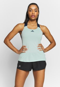 adidas Performance - TANK - Funktionsshirt - dash green/tech indigo