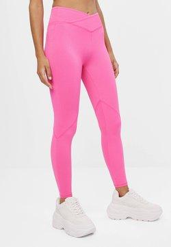 Bershka - Leggings - Hosen - neon pink