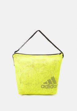 adidas Performance - EASY SHOP - Sports bag - acid yellow/black