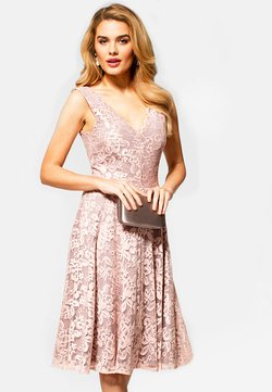 HotSquash - FLORAL  - Cocktailkleid/festliches Kleid - light pink