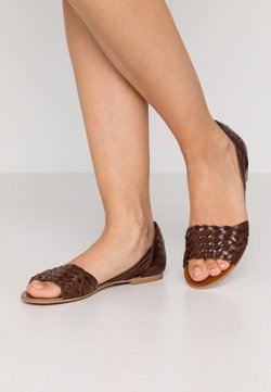 Anna Field - LEATHER - Riemensandalette - cognac