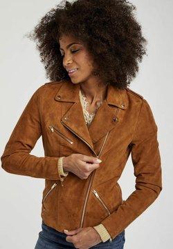 NAF NAF - MENL - Veste en cuir - brown