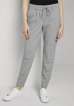 TOM TAILOR - PANTS ANKLE - Jogginghose - silver grey melange