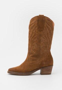 mtng - TEO - Cowboy/Biker boots - afelpado avellana
