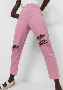 Stradivarius - MOM FIT - Straight leg -farkut - pink