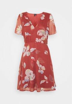 Vero Moda - VMFRIDA V NECK DRESS - Korte jurk - marsala