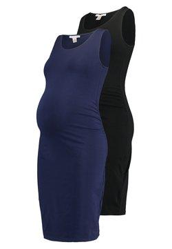 Anna Field MAMA - 2 PACK - Vestido de tubo - dark blue/black