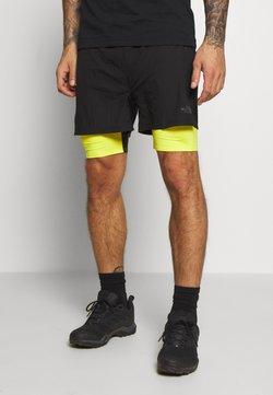 The North Face - MENS FLIGHT BETTER THAN NAKED CONCEPT SHORT - Pantalón corto de deporte - black/lemon