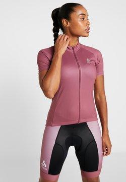 ODLO - STAND UP COLLAR FULL ZIP FUJIN PRINT - T-Shirt print - roan rouge