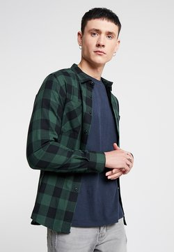 Urban Classics - CHECKED - Hemd - black/forest