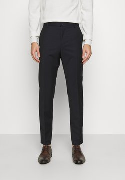 Calvin Klein Tailored - TONAL GRID CHECK EXTRAFINE PANT - Stoffhose - navy