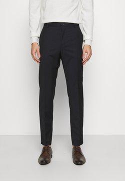 Calvin Klein Tailored - TONAL GRID CHECK EXTRAFINE PANT - Broek - navy