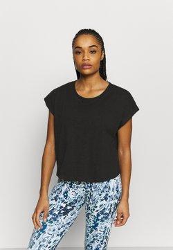 L'urv - MIND OVER BODY TEE - T-Shirt basic - black