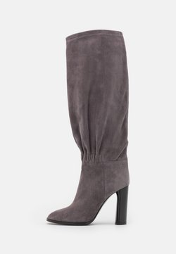 Casadei - High heeled boots - gravity grey