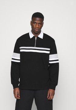 Weekday - OMAR HALFZIP - Poloshirt - black