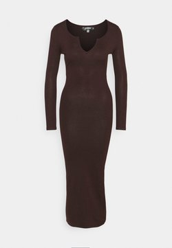 Missguided Petite - NOTCH NECK MIDAXI DRESS - Maxikleid - brown