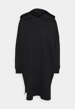 Even&Odd - MINI HOODED LOOSE FIT DRESS - Vardagsklänning - black