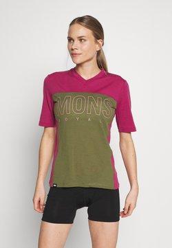 Mons Royale - PHOENIX ENDURO - T-Shirt print - khaki/rose