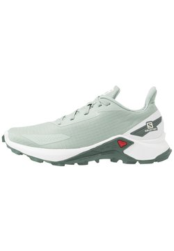 Salomon - ALPHACROSS BLAST - Zapatillas de trail running - aqua gray/white/balsam green