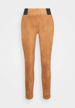 TOM TAILOR - TREGGING WITH ELASTIC TAPE - Leggings - Hosen - light chestnut