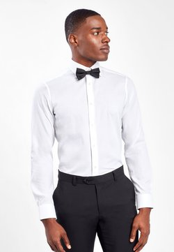 Next - WHITE SLIM FIT SINGLE CUFF WING COLLAR SHIRT WITH BOW TIE AND PO - Businesshemd - white