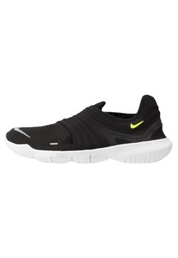 Nike Performance - FREE RN FLYKNIT 3.0 - Laufschuh Natural running - black/volt/white