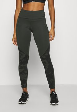 Under Armour - CAMO LEGGING - Tights - baroque green