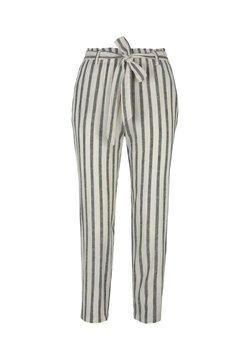 TOM TAILOR DENIM - Stoffhose - black beige stripe