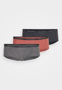 Marc O'Polo - 3 PACK  - Panties - dark grey/salmon