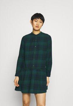 GAP - DRESS PLAID - Vestido camisero - dark green