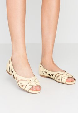 Dorothy Perkins - PEARLENE  - Ballerines à bout ouvert - yellow