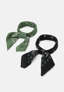 Pier One - BANDANA 2 PACK - Tuch - black/olive