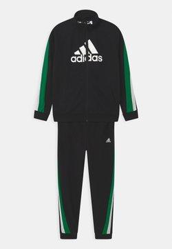 adidas Performance - SET UNISEX - Verryttelypuku - black/core green/white