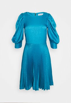 Closet - PUFF SLEEVE PLEATED DRESS - Cocktailkjoler / festkjoler - blue