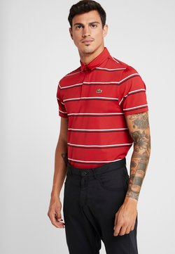 Lacoste Sport - STRIPE - Funktionsshirt - tokyo red/navy blue/white