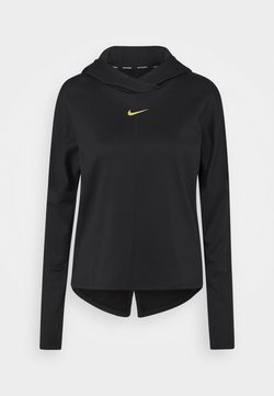 Nike Performance - T-shirt sportiva - black/metallic gold