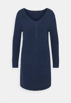 comma - Vestido de punto - dark blue