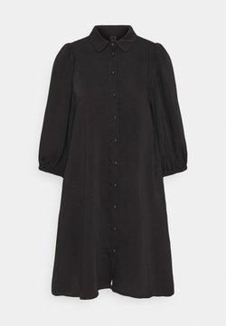 YAS - YASSOPHIA SOLID DRESS  - Vestido camisero - black