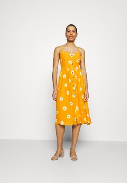Mavi - BUTTON DRESS - Freizeitkleid - yellow spaced
