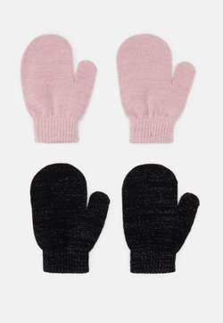 Name it - NMFMAGIC MITTENS 2 PACK - Fingerhandschuh - black/coral blush