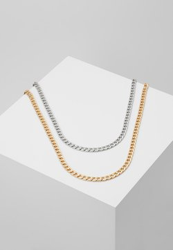Burton Menswear London - SMOOTH CHAIN NECKLACE 2 PACK SET - Accessorio - mixed