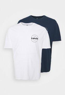 Levi's® Plus - TEE 2 PACK - T-shirt imprimé - white/dress blues