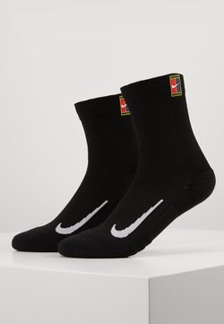 Nike Performance - COURT MULTIPLIER CUSHIONED 2 PACK UNISEX - Calcetines de deporte - black